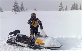 Snowmobiling in Bulgaria