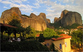 View from the hotel in Meteora - Greece
