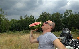 Watermelon shot-put
