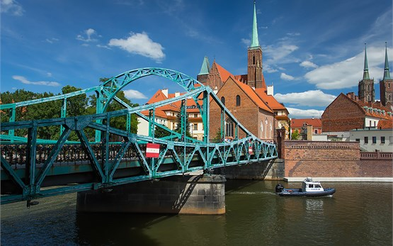 Wroclaw Poland - Tumski Bridge