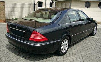 Вид сзади » 2001 Мерседес S 500