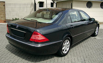 Rear view » 2001 Mercedes S 500